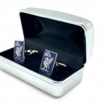 Blue Cufflinks in box 03b