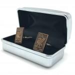 Gold Cufflinks in box 04b